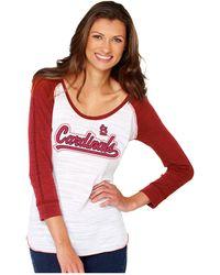 Soft As A Grape - Women's St. Louis Cardinals Baseball Raglan T-shirt - Lyst