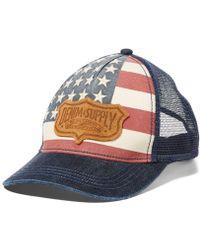 b7d0fb37c5b Denim   Supply Ralph Lauren - Men s Flag Logo Trucker Hat - Lyst