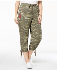 Style & Co. - Plus Size Cotton Cropped Cargo Pants - Lyst