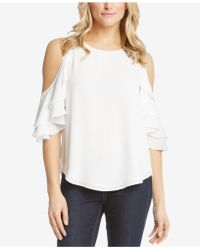 Karen Kane - Cold-shoulder Ruffle-sleeve Top - Lyst