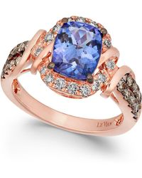 Le Vian - Tanzanite (2 Ct. T.w.) And Diamond (5/8 Ct. T.w.) Ring In 14k Rose Gold - Lyst