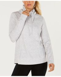 32 Degrees - Fleece Quilted Funnel-neck Top - Lyst