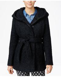 CoffeeShop - Hooded Belted Walker Coat - Lyst