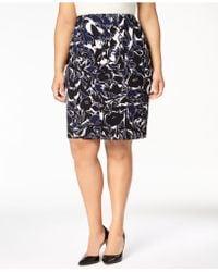 Kasper - Plus Size Printed Pencil Skirt - Lyst