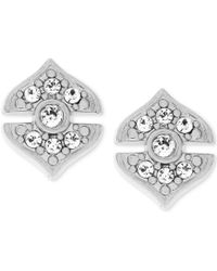 Vince Camuto - Decorative Pave Stud Earrings - Lyst