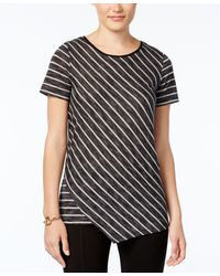 G.H.BASS - Striped Asymmetrical-hem Top - Lyst
