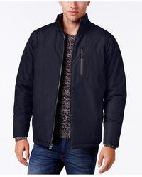 Izod - Men's Reversible Quilted Ripstop Stand-collar Coat - Lyst