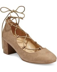 Wanted - Abby Lace-up Block-heel Court Shoes - Lyst
