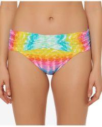 Bleu Rod Beattie - Printed Fold-over Hipster Bikini Bottoms - Lyst