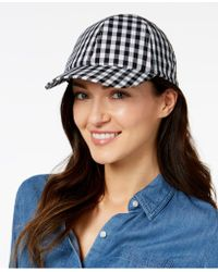 INC International Concepts - Gingham Bow-back Baseball Cap, Created For Macy's - Lyst