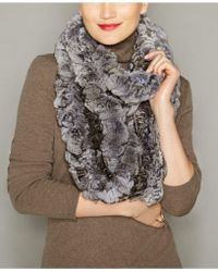 The Fur Vault - Knitted Chinchilla Fur Scarf - Lyst
