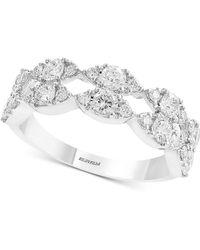 Effy Collection - Effy® Diamond Openwork Ring (1-1/4 Ct. T.w.) In 14k White Gold - Lyst