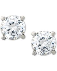 Macy's - Certified Diamond Stud Earrings (1 Ct. T.w.) In Platinum - Lyst
