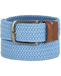 Perry Ellis - Webbed Leather-trim Belt - Lyst