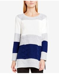 Two By Vince Camuto - Colour Block Mixed Knit Jumper - Lyst