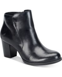 Born - Womens Alter Leather Almond Toe Ankle Fashion Boots - Lyst