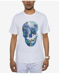 Sean John - Sequin Skull T-shirt - Lyst
