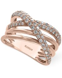 Effy Collection - Diamond Crisscross Ring (3/4 Ct. T.w.) In 14k Rose Gold - Lyst