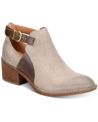 Born - Carin Block-heel Booties - Lyst