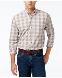 Cutter & Buck - Men's Starboard Classic-fit Plaid Poplin Shirt - Lyst