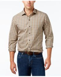 Cutter & Buck - Men's Skyler Classic-fit Plaid Poplin Shirt - Lyst
