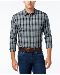 Cutter & Buck - Men's Woodland Plaid Poplin Shirt - Lyst