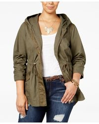 American Rag - Trendy Plus Size Hooded Anorak, Only At Macy's - Lyst