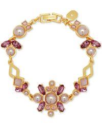 Ivanka Trump - 4mm, 6mm And 8mm Faux Pearls Goldplated Flex Bracelet - Lyst