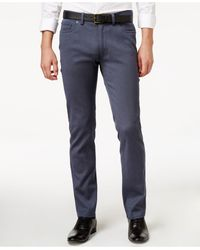 Vince Camuto - Men's Indigo Cavalry Twill Stretch Trousers - Lyst