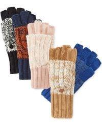 Rampage - Marled Flip Top Gloves - Lyst