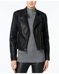 Wildflower | Faux-leather Moto Jacket, Only At Macy's | Lyst