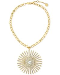Vince Camuto - Gold-tone Sunburst Collar Necklace - Lyst
