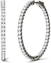 Charles & Colvard - Moissanite Hoop Earrings (5/8 Ct. T.w. Diamond Equivalent) In 14k Gold Or White Gold - Lyst