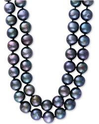 Effy Collection - Cultured Tahitian Pearl (10mm) Long Strand Necklace - Lyst