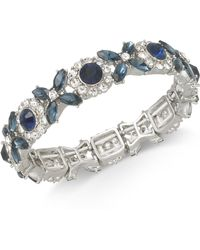 Charter Club - Silver-tone Crystal & Stone Stretch Bracelet, Created For Macy's - Lyst