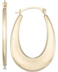 Macy's - Polished Graduated Oval Hoop Earrings In 10k Gold - Lyst
