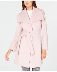 Anne Klein - Wing-collar Belted Wrap Coat - Lyst