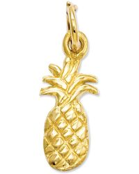 Macy's - 14k Gold Charm, Polished Pineapple Charm - Lyst