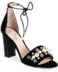 Kate Spade - Iverna Embellished Open-toe Pumps - Lyst