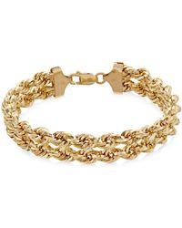 Macy's - Chain Double Rope Bracelet In 14k Gold - Lyst