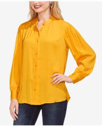 Vince Camuto - Pintuck Rumple Blouse - Lyst