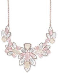"""INC International Concepts - I.n.c. Rose Gold-tone Pavé & Pink Stone Statement Necklace, 18"""" + 3"""" Extender, Created For Macy's - Lyst"""