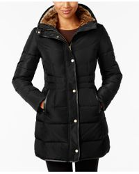 Cole Haan - Petite Faux-fur-lined Puffer Coat - Lyst