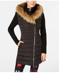 Calvin Klein - Performance Sweater-sleeve Faux-fur Hooded Walker Jacket - Lyst