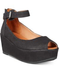 Gentle Souls - By Kenneth Cole Nyssa Platform Wedge Sandals - Lyst