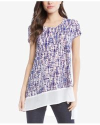 Karen Kane - Asymmetrical Sheer-hem Top - Lyst