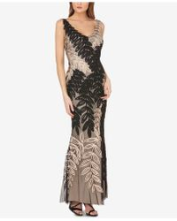 JS Collections - Two-tone Soutache Gown - Lyst