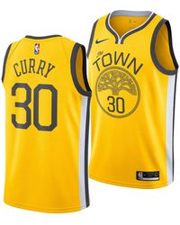 da8df7813a48 Nike - Stephen Curry Golden State Warriors Earned Edition Swingman Jersey -  Lyst