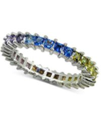 Giani Bernini - Cubic Zironia Rainbow Ring In Sterling Silver, Created For Macy's - Lyst