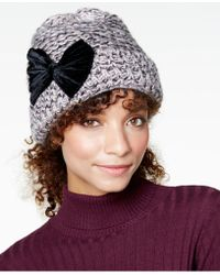 Betsey Johnson - Velvet-bow Cuff Hat - Lyst